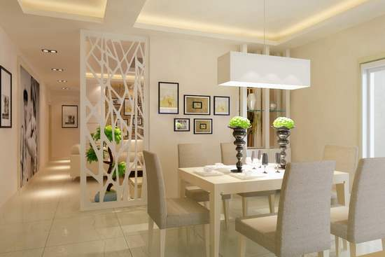 做广州室内设计时,客厅与饭厅的隔断处理